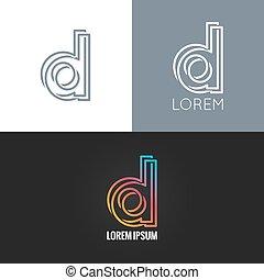 set, d, alfabeto, fondo, disegno, lettera, logotipo, icona