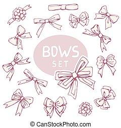 Set Decoration Bow