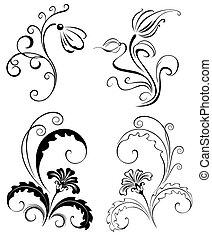 Set Decorative Flowers