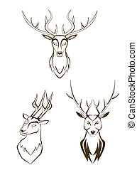 set deer head