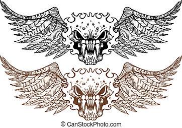 set, demon, vleugel
