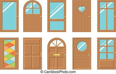 set, deuren