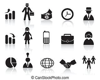 set, di, affari, icona