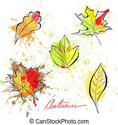 set, di, autunno parte