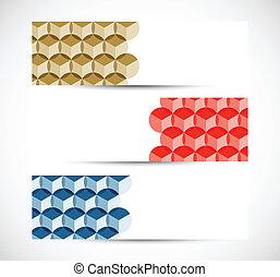 set, di, bandiere, con, cerchi
