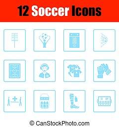 set, di, calcio, icone