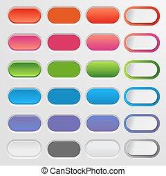 Web differente set colorato grande moderno buttons for Sito di design