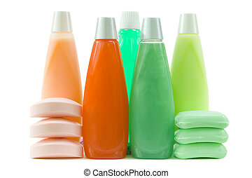 set, di, colorito, igienico, provviste