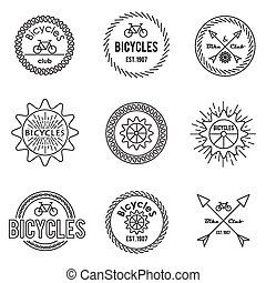 set, di, contorno, emblemi