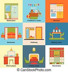 Bagno set stanza cucina cenando disegno interno for Disegno interno casa