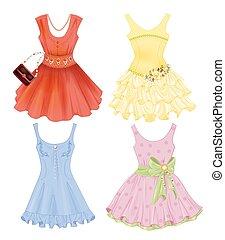 set, di, festivo, vestiti, per, ragazze