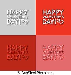set, di, giorno valentines, cartelle
