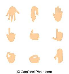 set, di, mani