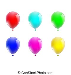 set, di, palloni coloriti