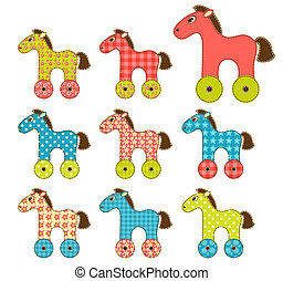 set, di, patchwork, cavalli, 2.