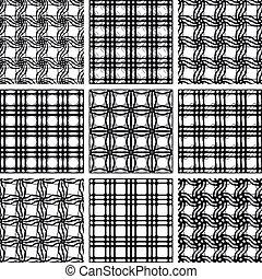 set, di, seamless, patterns.