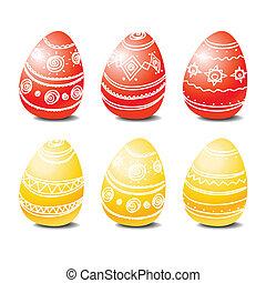 set, di, uova pasqua