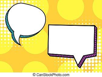 Set dialog blank template pop art comic text