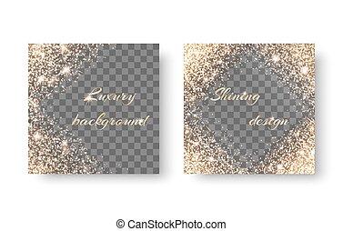 Set diamonds on a transparent background - Set with...