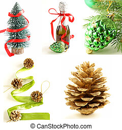 set different  Christmas decoration