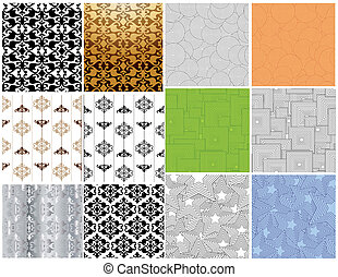 Set different seamless vector background - Seamless vector...
