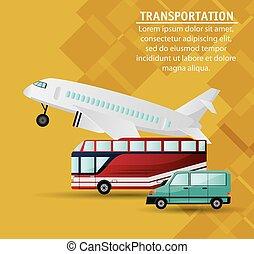 set different vehicles public transport