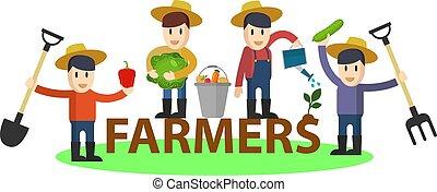 set, divertente, appartamento, coltivatori