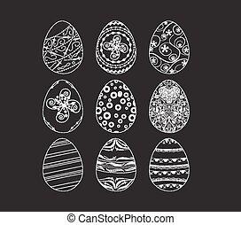 set easter eggs ornamental