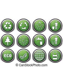 eco green icons