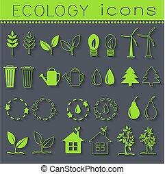 set eco icon on white background. Vector illustration design