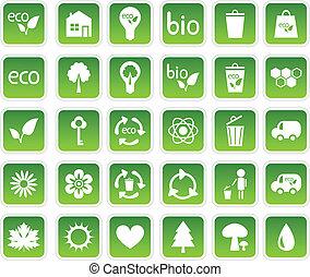 set, ecologie, iconen