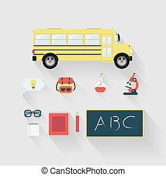 set, educazione, oggetto