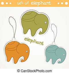 set, elefant