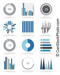 set, elementi, infographics