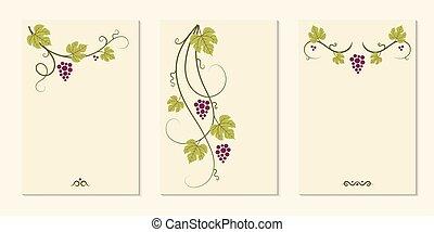 set., elementi, uva, viti