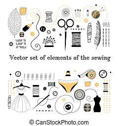 Set elements for sewing
