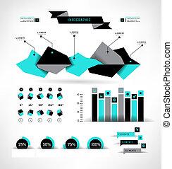 Set elements of infographics