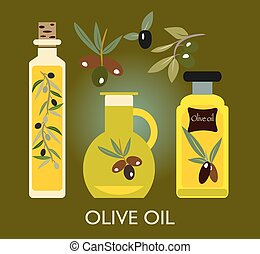 set, elements., ogive, olio, ramo, oliva