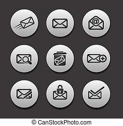 set, email, iconen