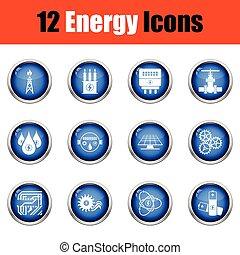 set., energia, ícone