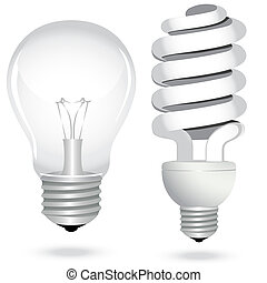 Icon set energy saving light bulb lamp glass electricity. Vector illustration.