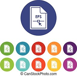 Set,  EPS, bestand, iconen