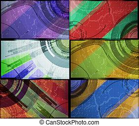 set, eps10, abstract, illustratie, achtergrond, vector, technologie, futuristisch