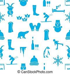 set, eps10, iconen, eenvoudig, januari, seamless, maand, thema, model