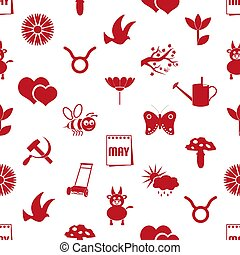 set, eps10, iconen, mei, model, seamless, maand, eenvoudig, thema