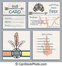 Set ethnic indian corporate Identity