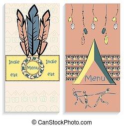 Set ethnic Indian menu