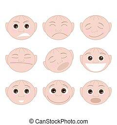 Set Faces Emotions