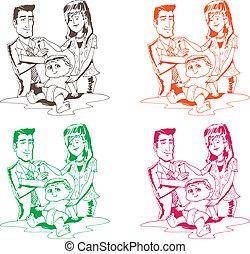 set, famiglia