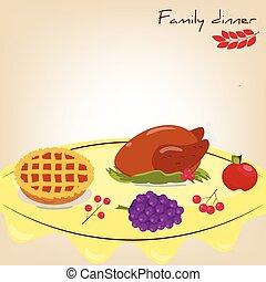 Set: family dinner
